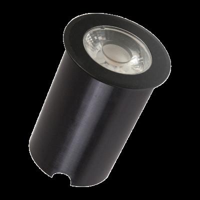 Embutido Solo LED Romalux 10108 12° 7W 2700K IP66 Bivolt Ø65x56mm Preto