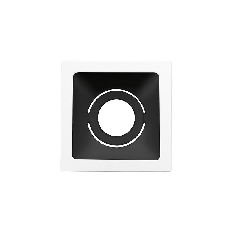 Spot Embutido Stella STH8910BR/PTO Square MR11 Mini Dicróica GU10 - Branco/Preto