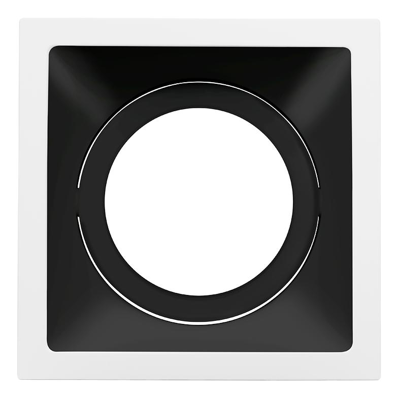 Spot Embutido Stella STH8925BR/PTO Square PAR30 E27 - Branco/Preto