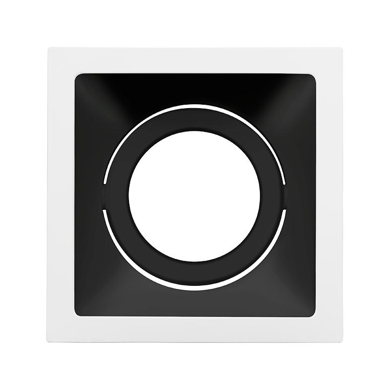 Spot Embutido Stella STH8930BR/PTO Square AR70 GU10 - Branco/Preto