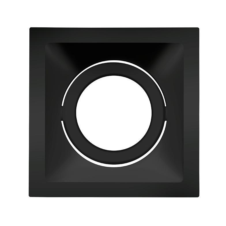 Spot Embutido Stella STH8930PTO Square AR70 GU10 - Preto
