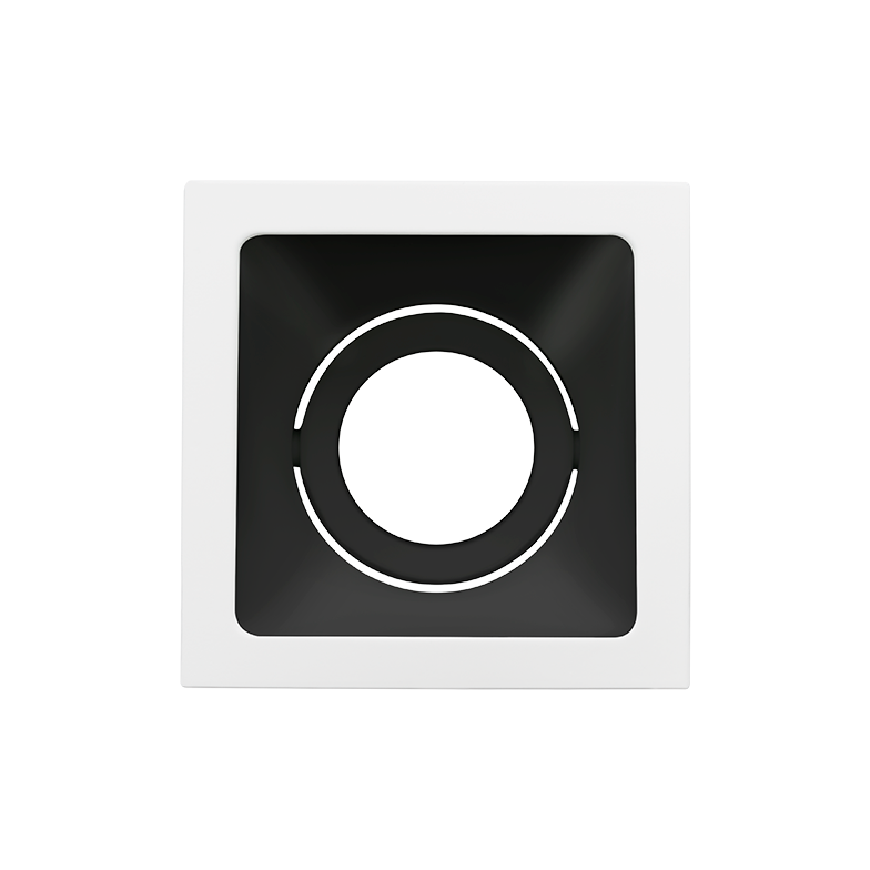 Spot Embutido Stella STH8945BR/PTO Square Ghost MR16 Dicróica/PAR16 GU10 - Branco/Preto