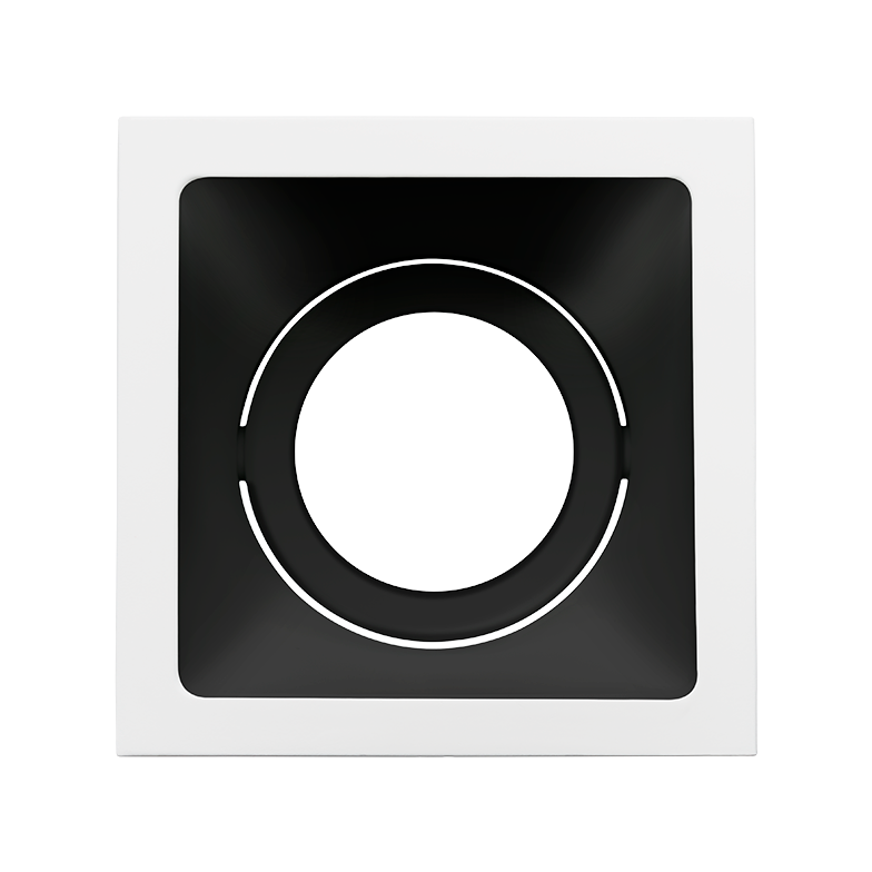 Spot Embutido Stella STH8950BR/PTO Square Ghost PAR20 E27 - Branco/Preto