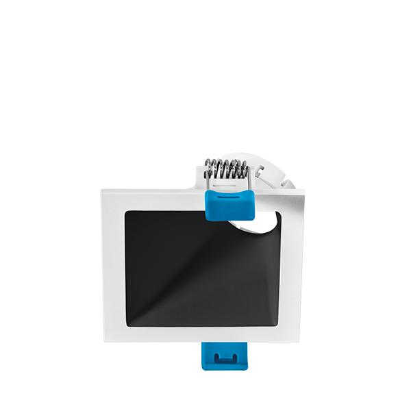 Spot Embutido Stella STH8960BR/PTO Square Angle Mini Dicróica GU10 MR11 25G - Branco/Preto