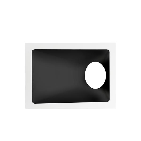 Spot Embutido Stella STH8965BR/PTO Square Angle Mini Dicróica GU10 MR11 40G - Branco/Preto