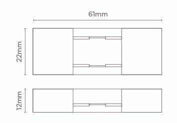 Emenda p/ Fita LED Stella STH7877 Double Line 10W/m