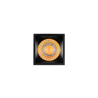 Espeto LED Stella STH8723/30 Hide Quadrado com Recuo 5W 3000K IP67 Bivolt 65x280mm- Preto