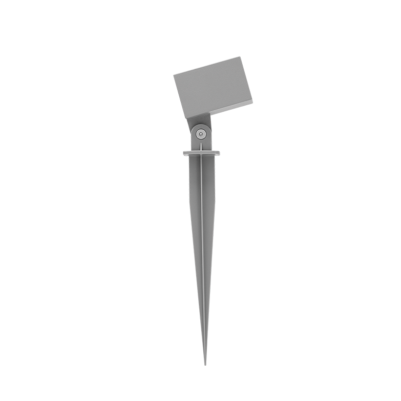 Espeto LED Stella STH8724/30 Hide Quadrado com Recuo 5W 3000K IP65 Bivolt 65x280mm - Cinza