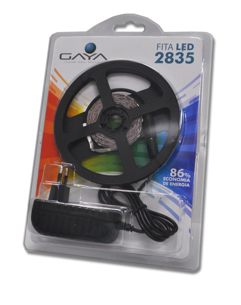 Fita LED 2835 Gaya 9036 12V 4,8W 3000K IP20 Rolo de 2,5 Metros