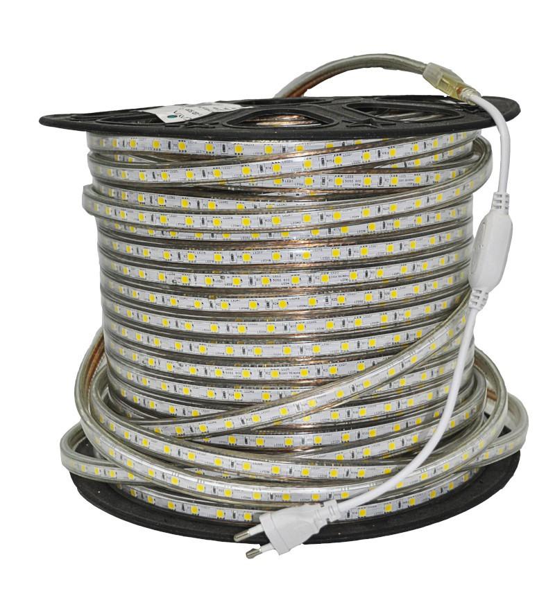 Fita LED 2835 Gaya 9049 220V 4,8W 4000K IP65 Rolo de 100 Metros