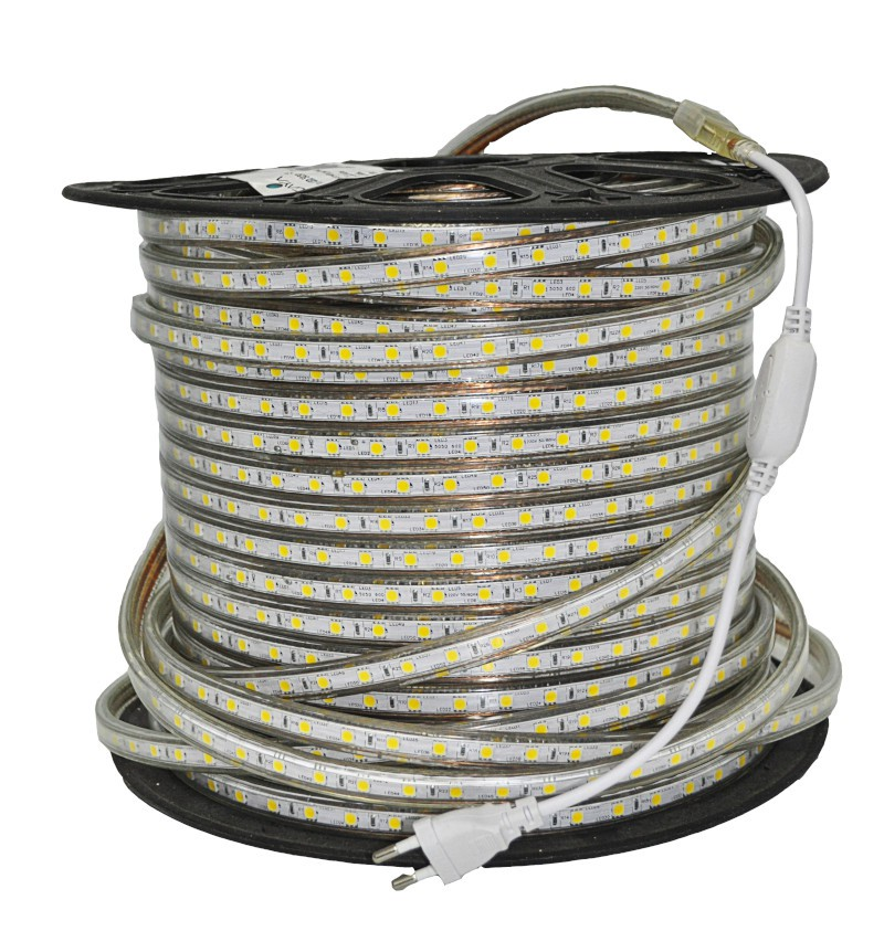 Fita LED 5050 Gaya 9050 110V 14,4W 4000K IP65 Rolo de 100 Metros