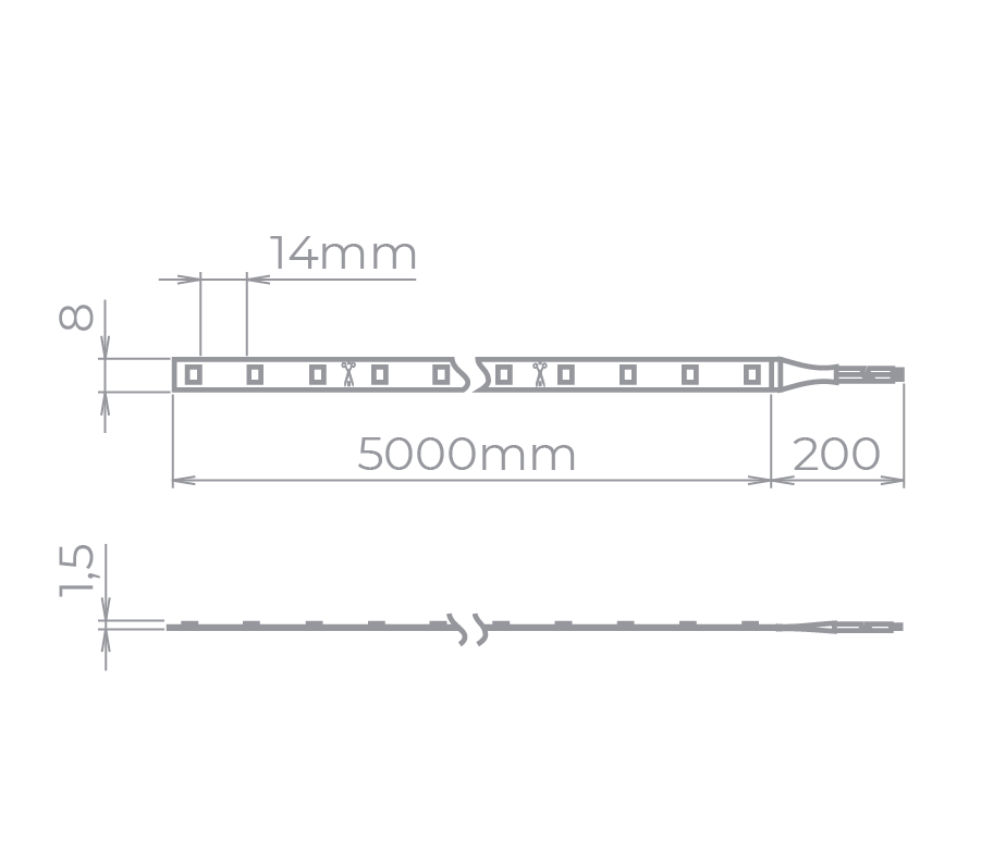 Fita LED Stella STH6800/AZ Color Rolo 5 Metros 6W/M Azul 12V IP20