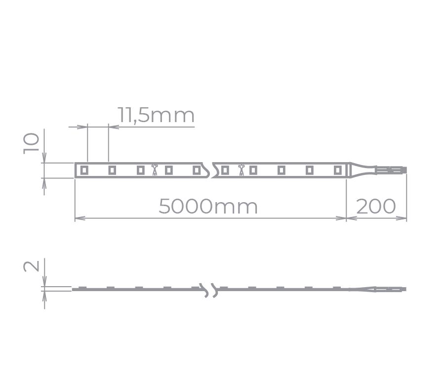 Fita LED Stella STH7814/27 Eco Rolo 5 Metros 10W/M 2700K 12V IP20