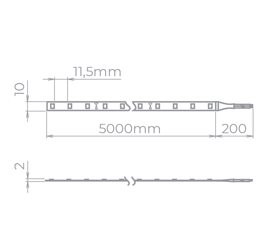 Fita LED Stella STH7814/40 Eco Rolo 5 Metros 10W/M 4000K 12V IP20
