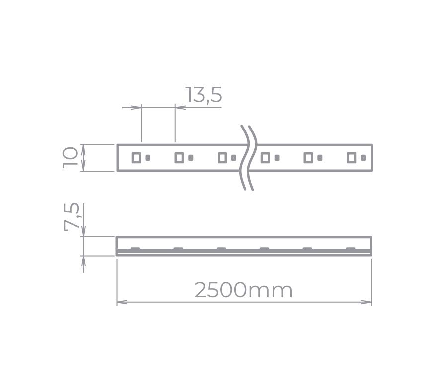 Fita LED Stella STH7822/30 Kit Tensão De Rede Single Line  25 Metros 5W/M 3000K 220V IP67