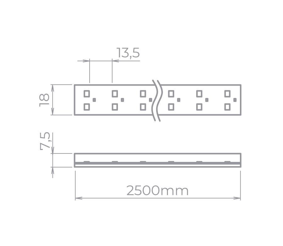 Fita LED Stella STH7832/30 Kit Tensão De Rede Double Line 25 Metros 10W/M 3000K 220V IP67