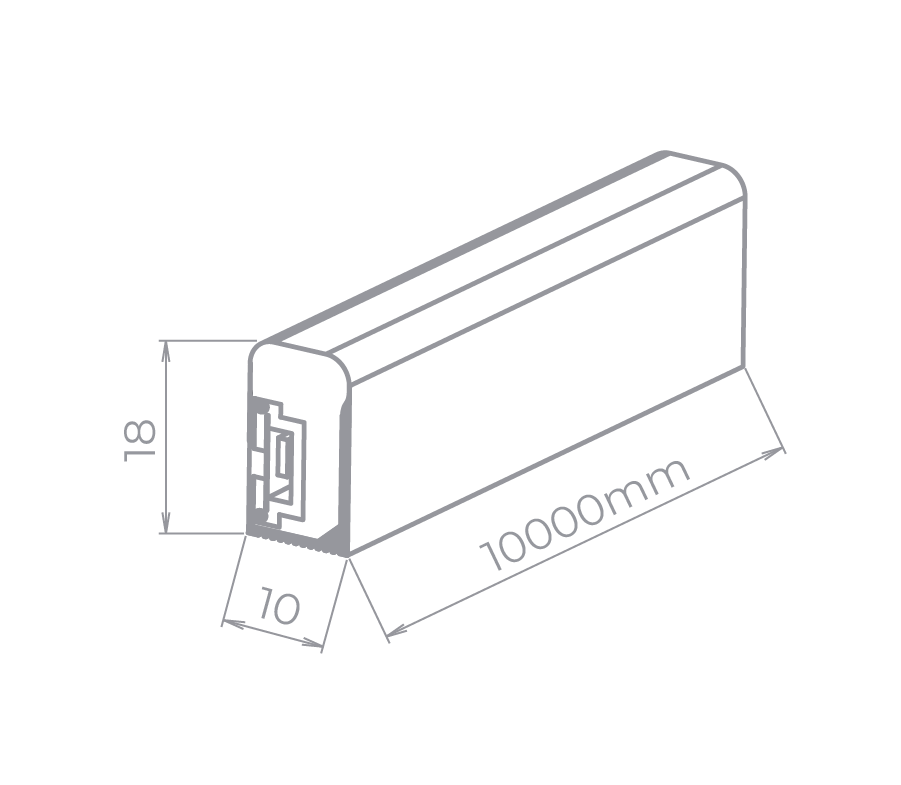 Fita LED Stella STH7862/27 Neon Branco Quente 7W/M 2700K 220V IP65 10 Metros