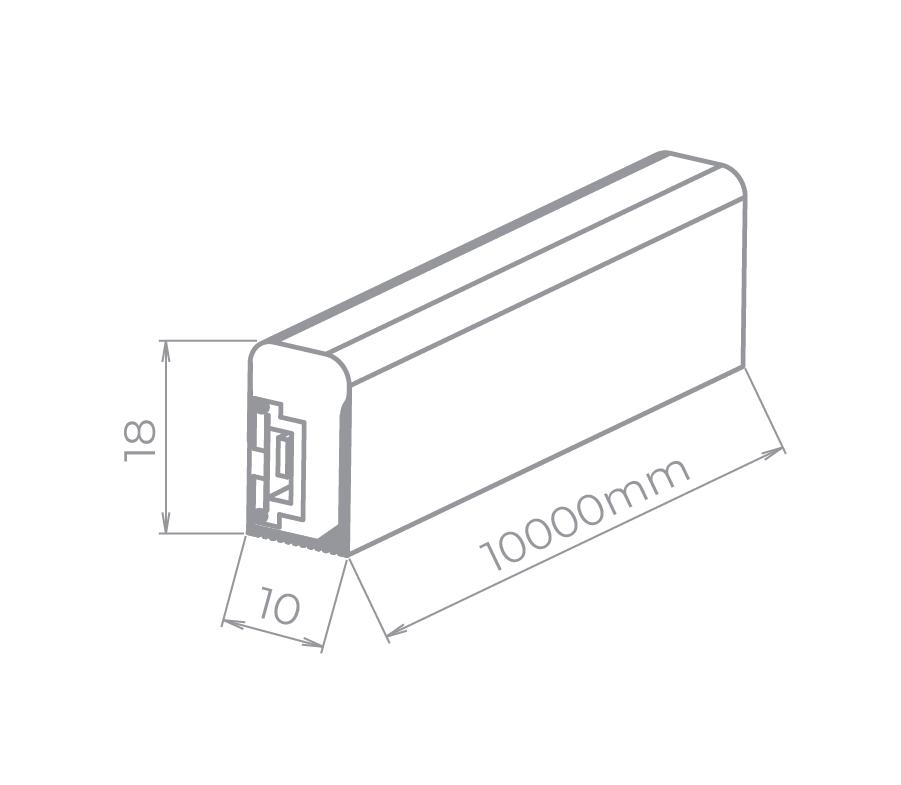 Fita LED Stella STH7862/60 Neon Branco Frio 7W/M 6000K 220V IP65 10 Metros