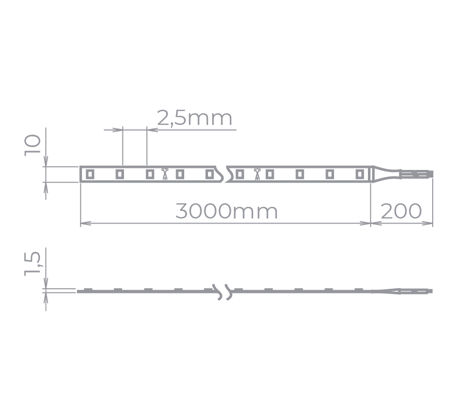 Fita LED Stella STH8835/27 Evo Full LED Rolo 3 Metros 19W/m 2700K 24V IP20