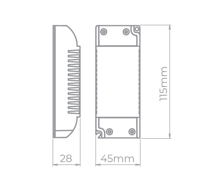 Fonte para Fita LED Stella STH8891 12V 2,08A 25W Bivolt