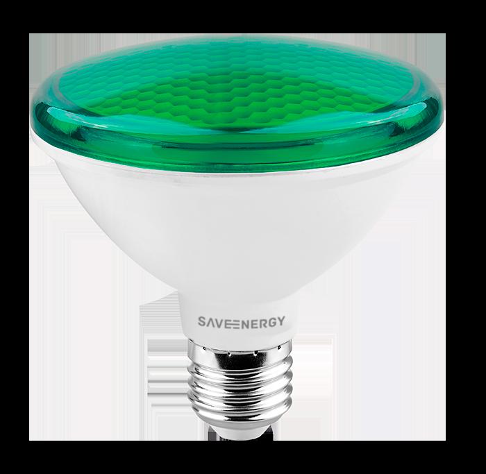 Lâmpada LED Save Energy SE-115.1269 Verde PAR30 10W 24G Bivolt