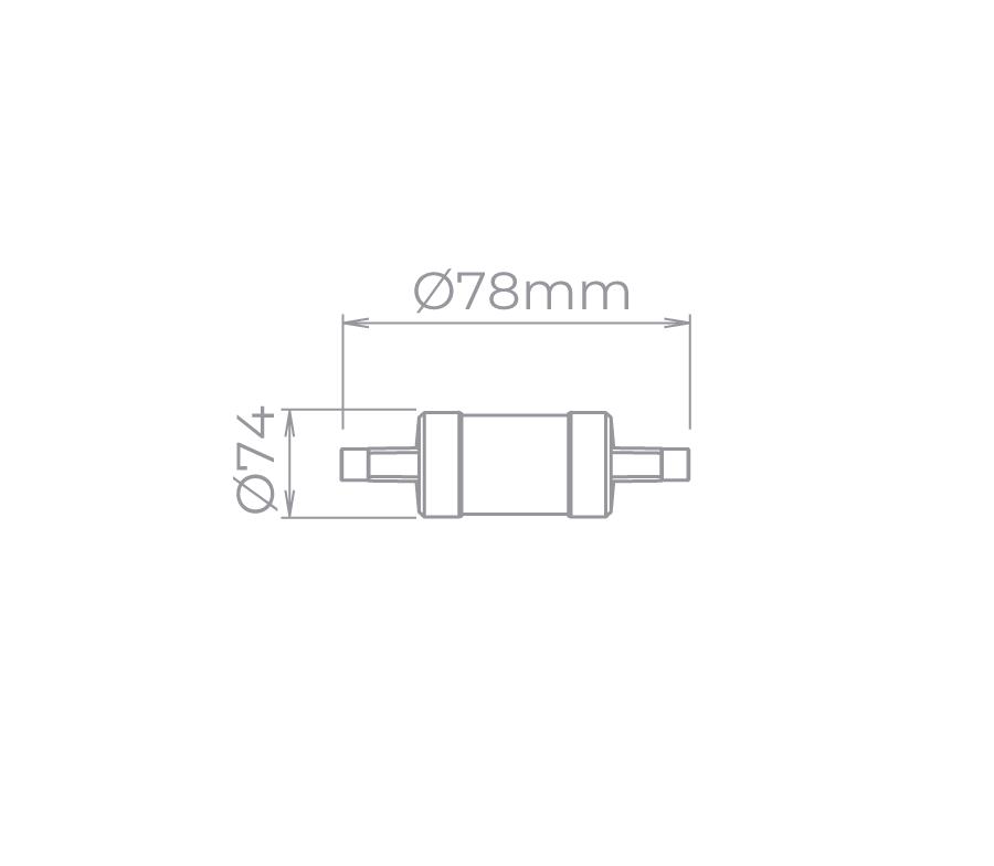 Lâmpada LED Stella STH5120/27 R7s Palito Curta 5W 2700K 360G Bivolt