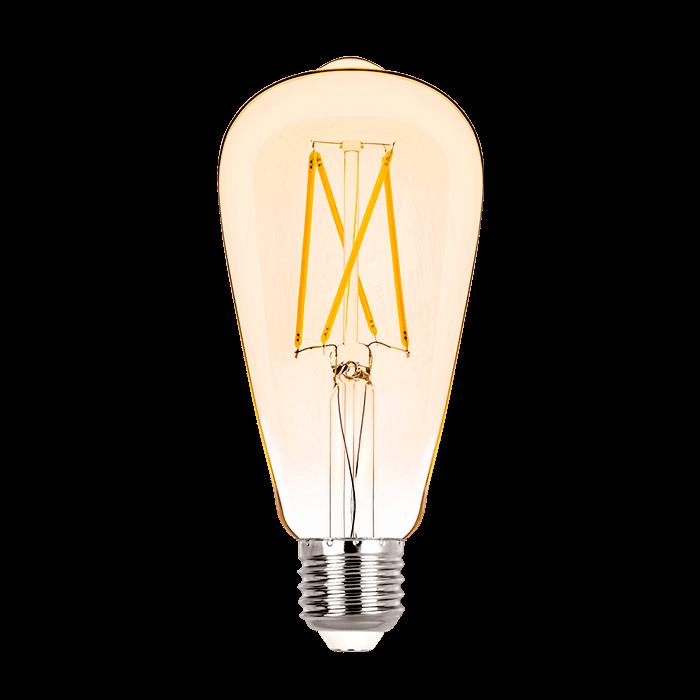 Lâmpada LED Stella STH6338/24 ST64 Filamento Vintage E27 2W 2400K Bivolt