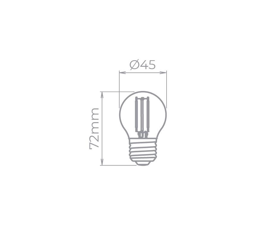 Lâmpada Led Stella STH6340/VM Mini Bulbo Filamento Color Vermelha E27 2W Bivolt