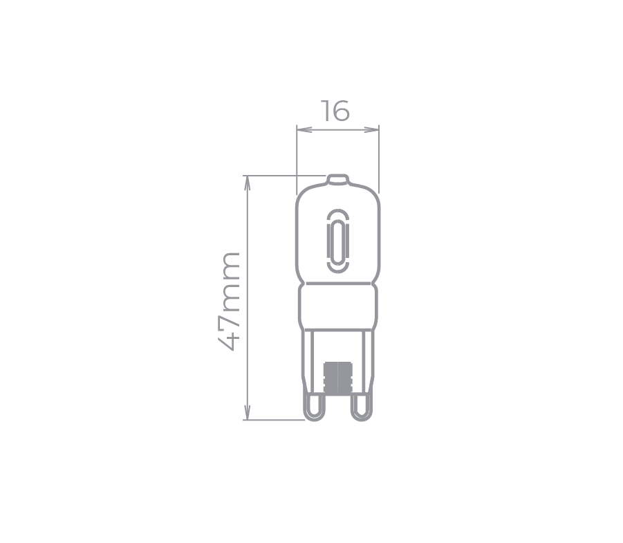 Lâmpada Led Stella STH7122/30 Bipino G9 Halopin 2,5W 3000K 300G 220V