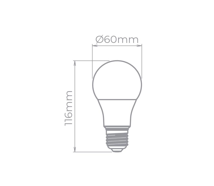 Lâmpada Led Stella STH7256/65 Bulbo E27 10W 6500K 150G Bivolt