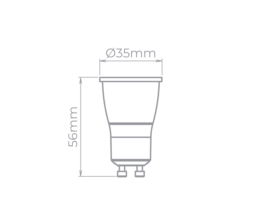 Lâmpada Led Stella STH7530/27 Mini Dicróica Evo GU10 Dimerizável 4W 2700K 30G Bivolt