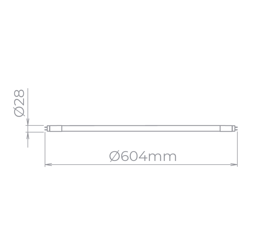 Lâmpada Led Stella STH7607/40 Tubular 10W 4000K 60cm T8 G13 Bivolt