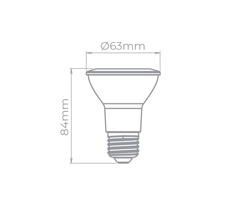 Lâmpada LED Stella STH8020/30 PAR20 E27 6W 3000K 25G Bivolt
