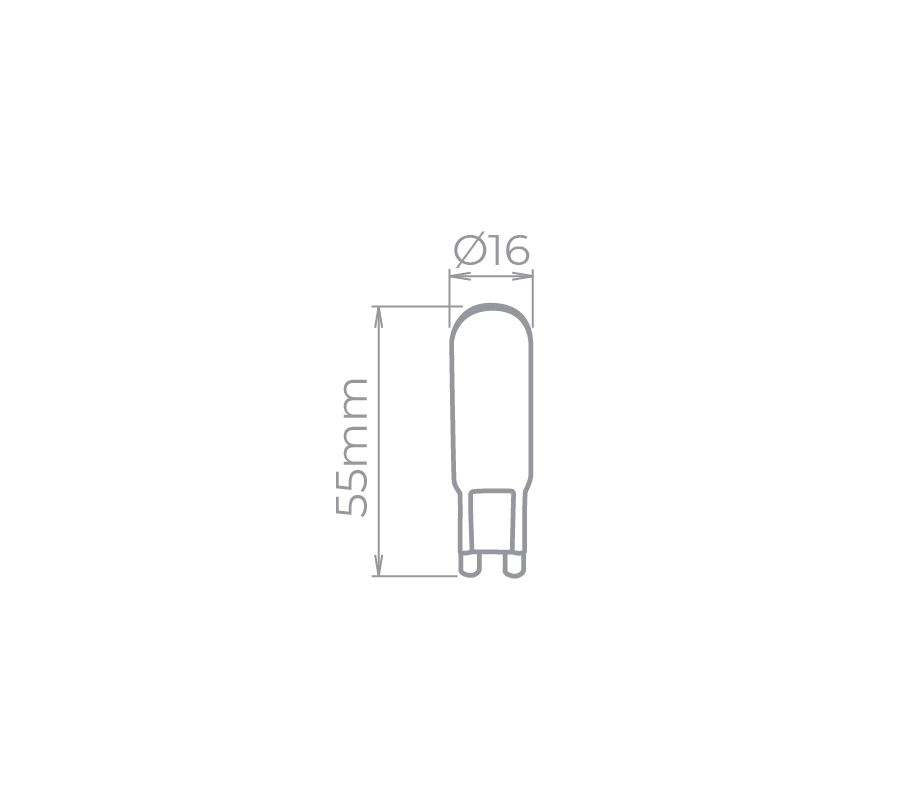Lâmpada Led Stella STH8141/30 Bipino G9 Halopin 4W 3000K 300G 127V