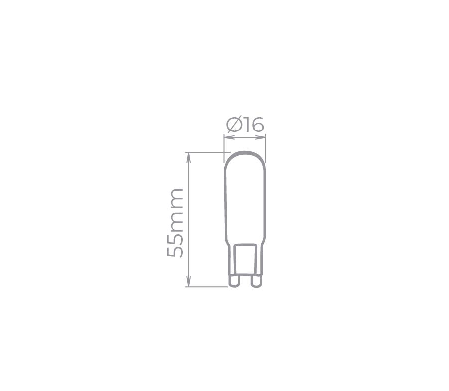 Lâmpada Led Stella STH8142/30 G9 Halopin 4W 3000K 300G 220V