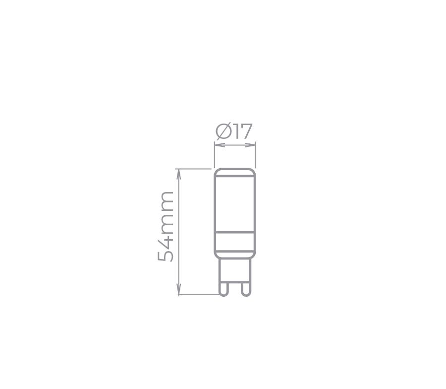 Lâmpada Led Stella STH8152/24 Bipino G9 Halopin Dimerizável 3,5W 2400K 270G 220V