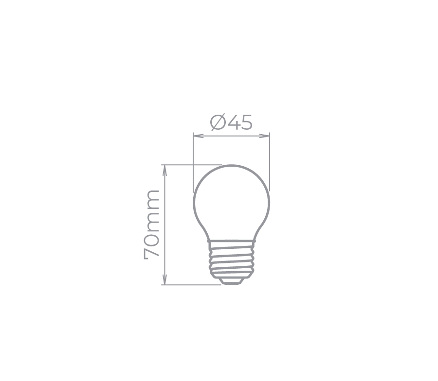 Lâmpada Led Stella STH8220/27 Mini Bulbo Leitosa Milky E27 2W 2700K 300G Bivolt