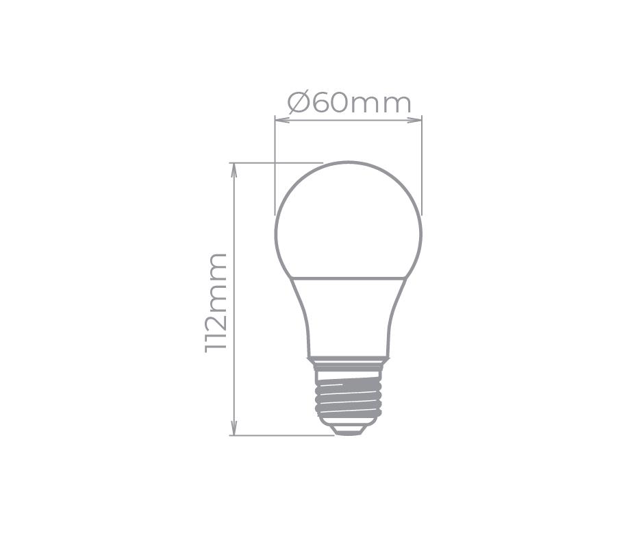 Lâmpada Led Stella STH8235/30 Bulbo E27 9W 3000K 230G Bivolt