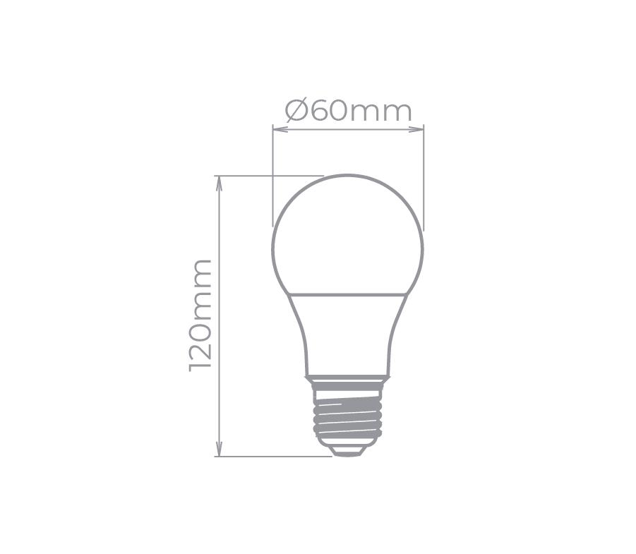 Lâmpada Led Stella STH8236/30 Bulbo E27 9,9W 3000K 230G Bivolt
