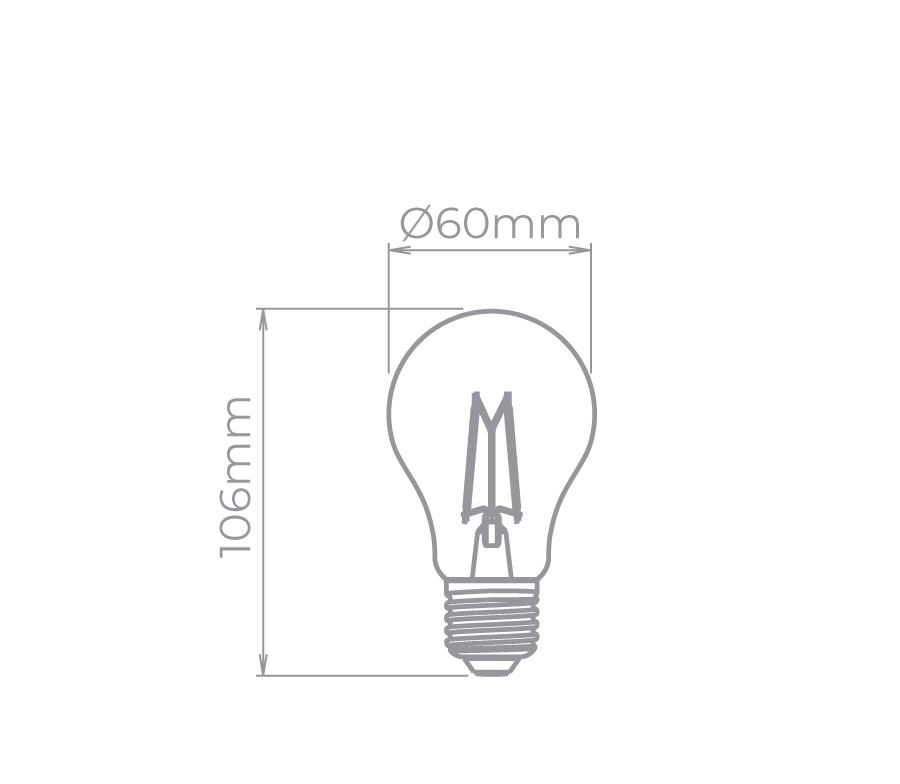 Lâmpada Led Stella STH8261/24 Bulbo Dimerizável Filamento Vintage E27 4,5W 2400K 300G 127V