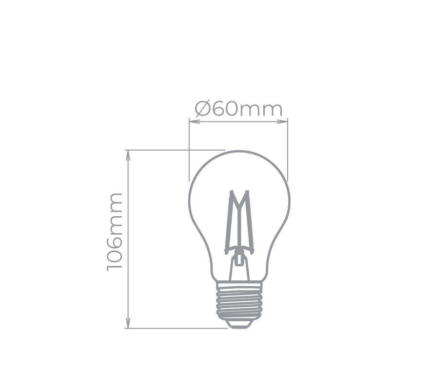 Lâmpada Led Stella STH8262/24 Bulbo Dimerizável Filamento Vintage E27 4,5W 2400K 300G 220V