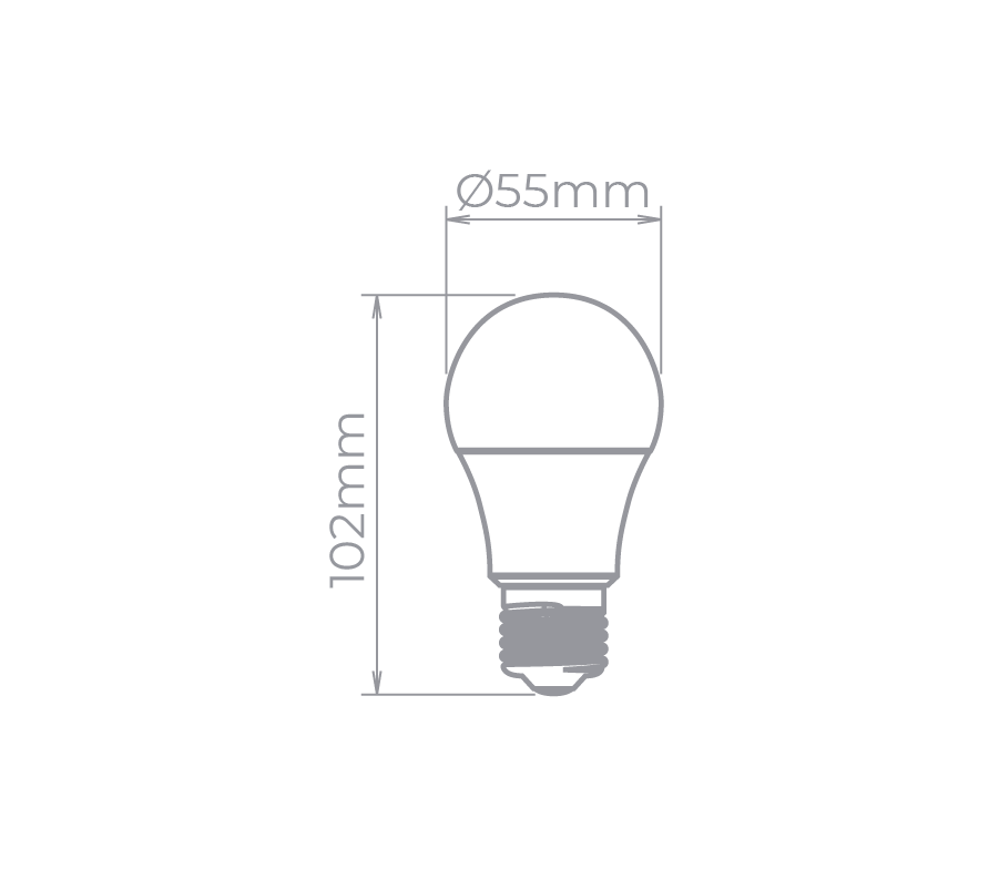 Lâmpada Led Stella STH8263/40 Bulbo E27 4,9W 4000K 170G Bivolt