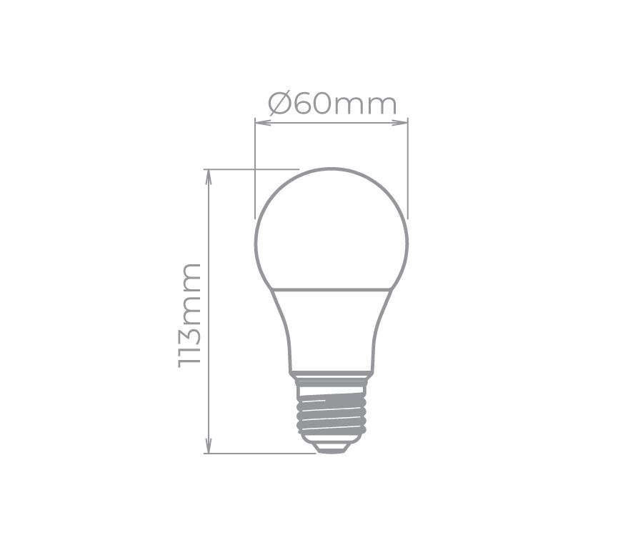 Lâmpada Led Stella STH8264/27 Bulbo E27 7W 2700K 170G Bivolt