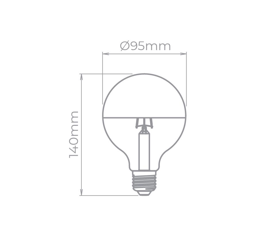 Lâmpada Led Stella STH8285/24 Balloon Defletora G95 Filamento E27 5W 2400K 190G Bivolt