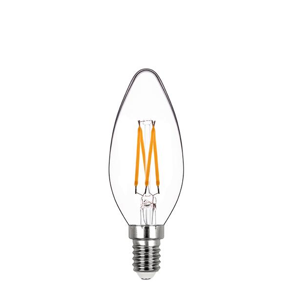 Lâmpada Led Stella STH8361/24 Vela Lisa Dimerizável Filamento E14 4W 2400K 300G 127V