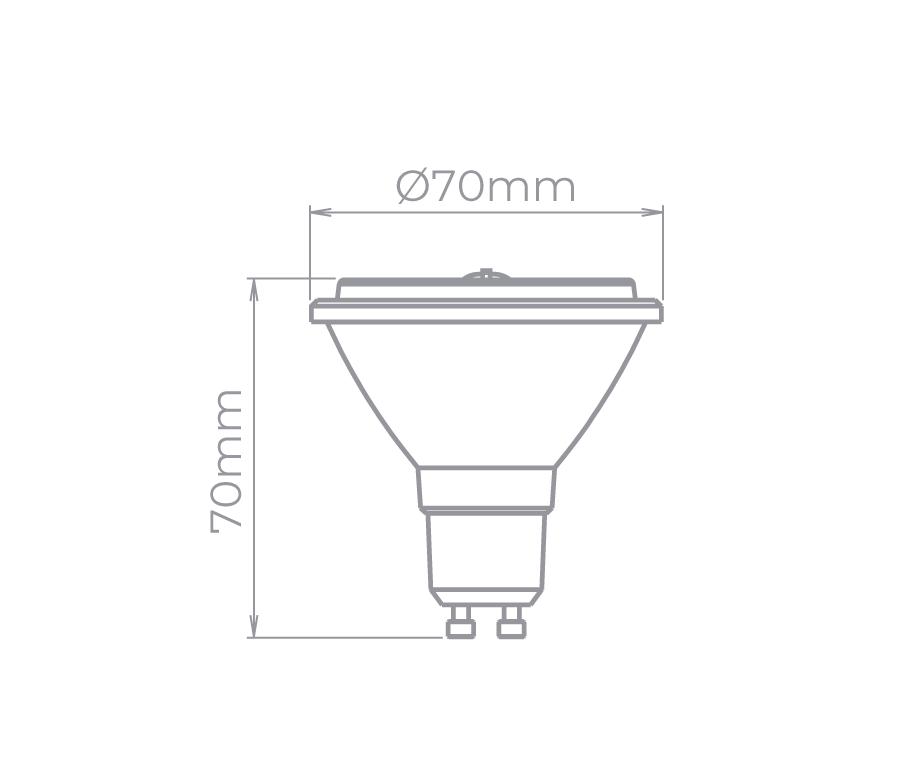 Lâmpada LED Stella STH8433/27 AR70 GU10 4,8W 2700K 12G Bivolt