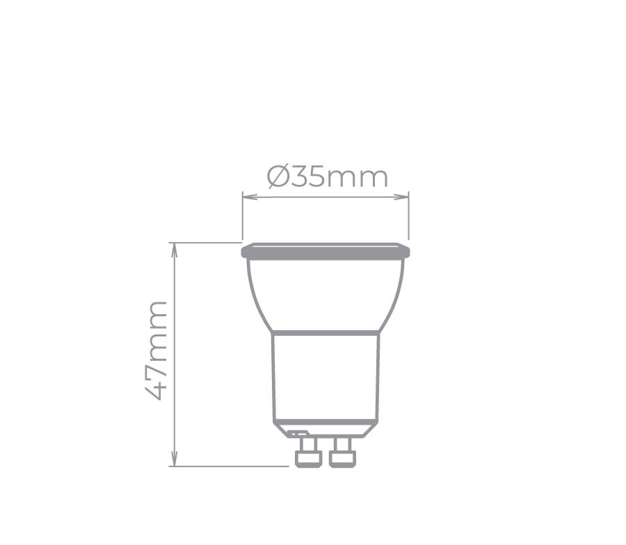 Lâmpada Led Stella STH8513/30 Mini Dicróica GU10 3W 3000K 36G Bivolt