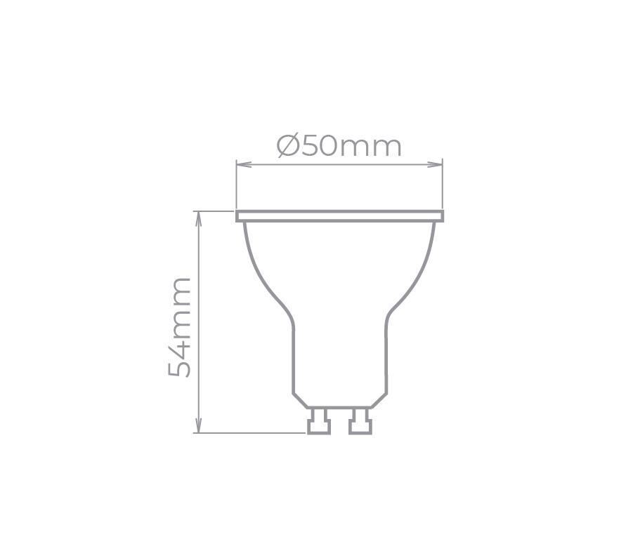 Lâmpada LED Stella STH8534/40 Dicróica/PAR16 GU10 4W 4000K 36G Bivolt