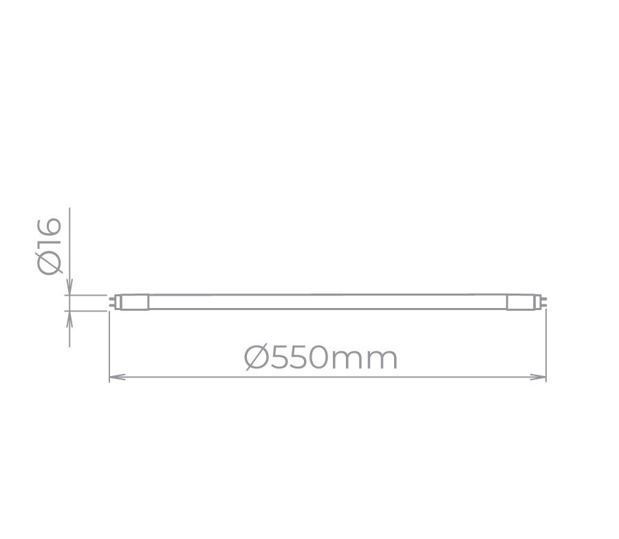 Lâmpada Led Stella STH8605/30 Tubular 9W 3000K 55cm T5 G5 Bivolt