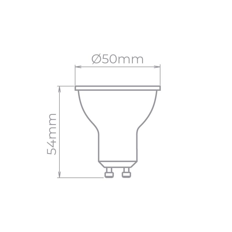 Lâmpada Stella STH20535/27 Evo Dicróica/PAR16 GU10 6W 2700K 36G Bivolt Ø50x54mm